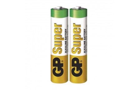 Alkalická baterie GP Super LR03 (AAA) - 2ks