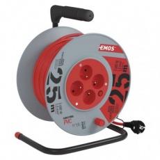 PVC prodlužovací kabel na bubnu – 4 zásuvky, 25m 1,5mm2