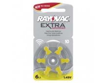 Baterie do naslouchadel RAYOVAC H10MF, blistr - 6ks