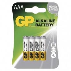 Alkalická baterie GP Alkaline AAA (LR03) - 4ks