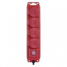 Prodlužovací kabel gumový – 4 zásuvky, 10m, 1,5mm2, IP44