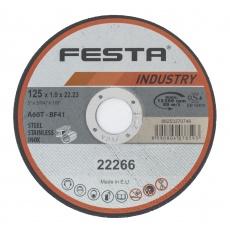Kotouč řezný FESTA INDUSTRY na kov 125x1. 6x22. 2mm