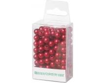 Dekorační perly - 8 mm (144 ks) tmavě červené