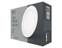 LED panel 120mm, kruhový vestavný bílý, 6W teplá bílá