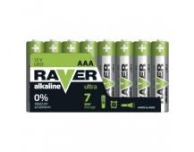 Alkalická baterie RAVER AAA (LR03) - 8ks