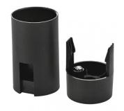 Objímka na žárovku E14 plastová 1253-030, černá - 10ks