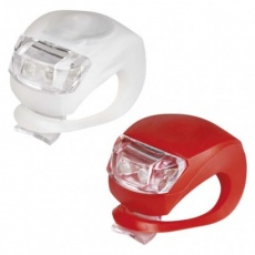 LED přední + zadní svítilna na kolo P3921 na 2× CR2032,10 lm