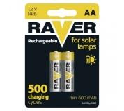 Nabíjecí baterie do solárních lamp RAVER AA (HR6) 600 mAh - 2ks