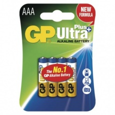 Alkalická baterie GP Ultra Plus AAA (LR03) - 4ks