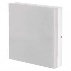 LED přisazené svítidlo, čtvercové bílé 15W teplá b., IP44