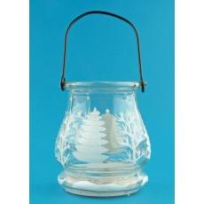 Lucerna skleněná na svíčku 9,5cm