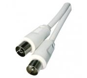Anténní koaxiální kabel stíněný 5m - rovné vidlice