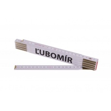 Metr skládací 2m ĹUBOMÍR (PROFI, bílý, dřevo)
