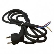 Flexo šňůra PVC 3× 1,5mm2, 3m, černá
