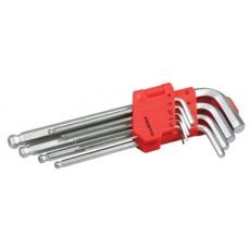 Sada L klíčů inbus FESTA CrV s kuličkou inch 9ks