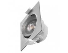 LED bodové svítidlo stříbrné, čtverec 7W neutrální bílá