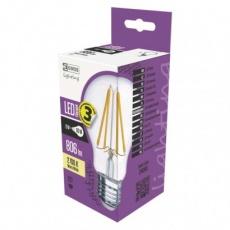 LED žárovka Filament A60 A++ 6W E27 teplá bílá