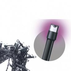Spojovací Standard LED vánoční řetěz, 10m, růžová