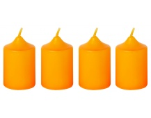 Svíčka adventní 40x60 mm - oranžová (4ks)
