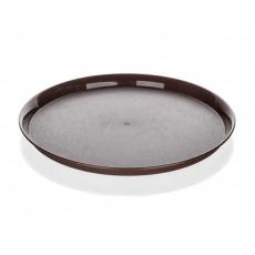 BANQUET Tác plastový kulatý CULINARIA 32 x 2cm, hnědý