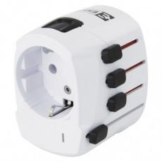 Cestovní univerzální adaptér do zahraničí (Ame.,Asie,Afrika)