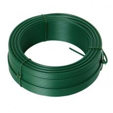 Napínací drát 2. 6mmx52M zelený PVC