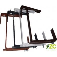 Držák na truhlík - kovový univerzální nastavitelný hnědý (2 ks