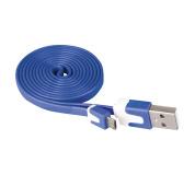 USB kabel 2.0 A/M - micro B/M 1m modrý