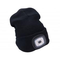 Čepice s čelovkou 45Im, nabíjecí, USB, černá