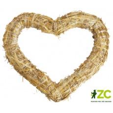 Srdce slaměné - 25 cm