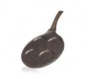 BANQUET Pánev na 4 lívance s nepřilnavým povrchem GRANITE Dark Brown 26 cm