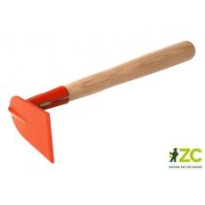 Okopávačka s nás. 27 cm Rosteto - rovná bez hrotů - oranžová