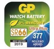 Knoflíková baterie do hodinek GP 377F (SR66, SR626) - 10ks