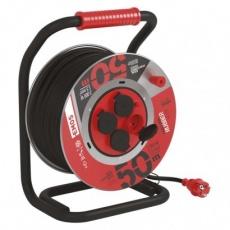Guma-guma prodluž. kabel, buben kovový – 4z, 50m, 1,5mm2