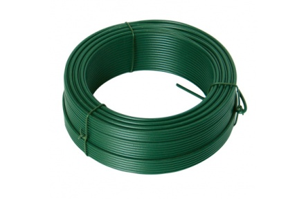 Napínací drát 2. 6mmx26M zelený PVC