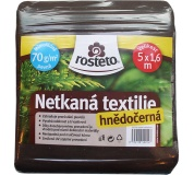Neotex / netkaná textilie Rosteto - hnědočerný 70g šíře 5 x 1,6 m