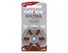 Baterie do naslouchadel RAYOVAC H312MF, blistr - 6ks