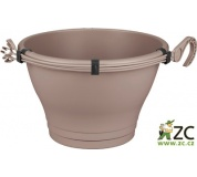 Květináč Corsica Hanging Basket - taupe 30 cm