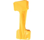 Jmenovka sada 15 ks - žlutá 3,5x5,5x15 cm rovné