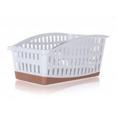 BANQUET  Organizér do ledničky plastový CULINARIA, 29 x 19,5 x 14cm, bílo-hnědý