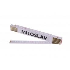Metr skládací 2m MILOSLAV (PROFI, bílý, dřevo)