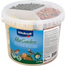 Směs pro venkovní ptactvo Mix-pack kbelík - 2,5 kg Vita Garden