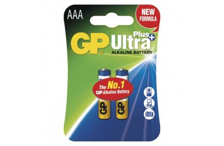 Alkalická baterie GP Ultra Plus LR03 (AAA) - 2ks