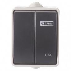 Přepínač nástěnný č. 5 IP54, 2 tlačítka