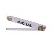 Metr skládací 2m MICHAL (PROFI, bílý, dřevo)