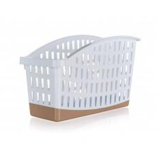 BANQUET Organizér do ledničky plastový CULINARIA, 28 x 13 x 16cm, bílo-hnědý