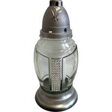 Svíčka sklo lampa L-78 - 85 g bílá