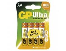 Alkalická baterie GP Ultra AA (LR6) - 8ks