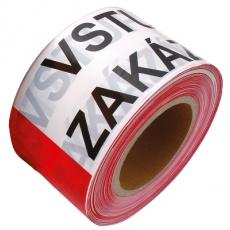 Páska varovací 80mmx250m VSTUP ZAKÁZÁN
