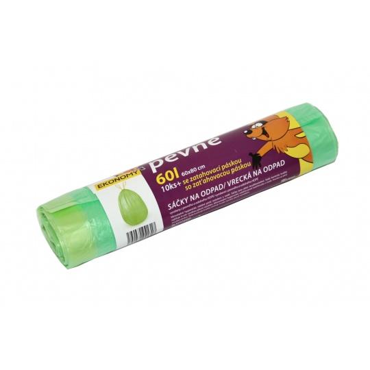Sáček s páskou HDPE 60l zelené